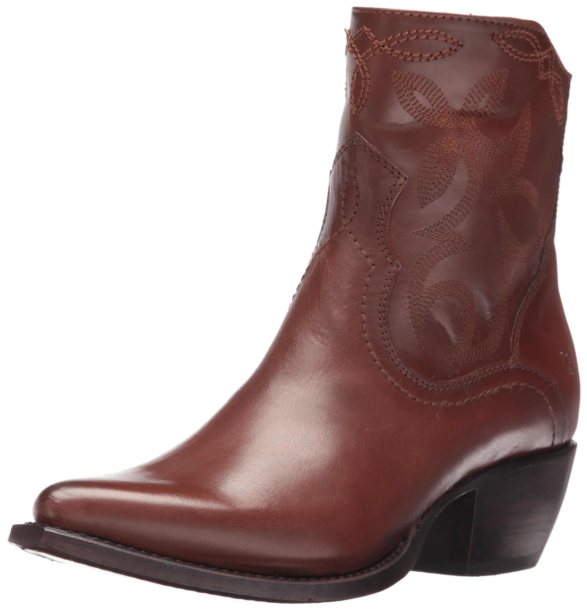 FRYE Women's Shane Embroidered Short Western Boot, Whiskey, 10 M US