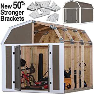 EZ Shed 70188 Barn Style Instant Framing Kit, Brown
