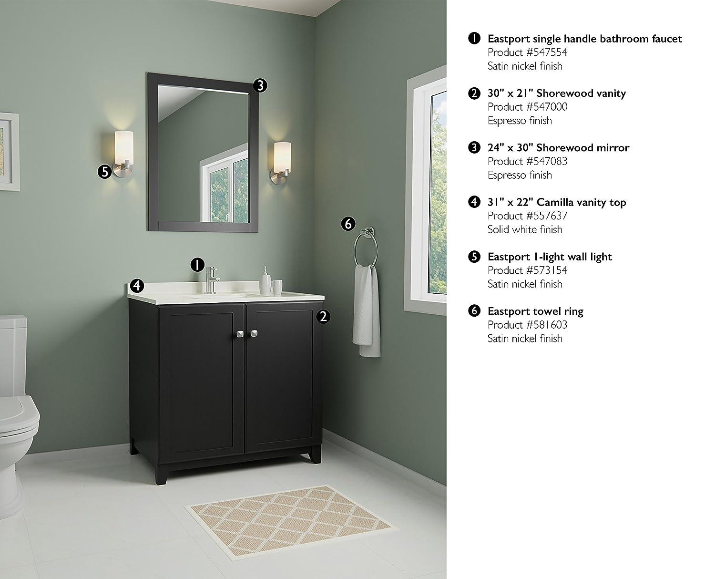 Design House 547083 24 By 30 Vanity Mirror Espresso Amazon