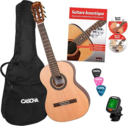 Cascha guitarra clásica infantil 3/4, pack para principiantes ...