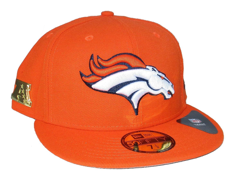 635e7cf91 Amazon.com : Denver Broncos New Era Fitted Size 7 1/2 Hat Cap ...