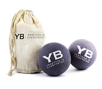 Amazon.com: Jumbo Yoga bolas de masaje con bolsa de lona, 2 ...