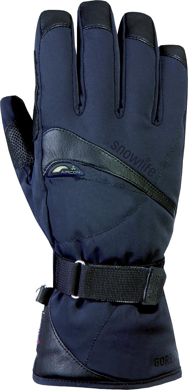 Snowlife Skihandschuhe Snowboardhandschuhe Herren mit echtem Leder, Gore-TEX Membrane und Soft Shell besonders atmungsaktiv ideal für Wintersport Expander GTX Glove