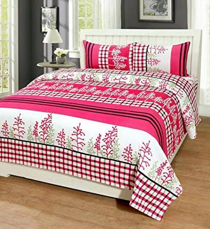 Great Astra Double Bedsheets Cotton With Pillow Cover