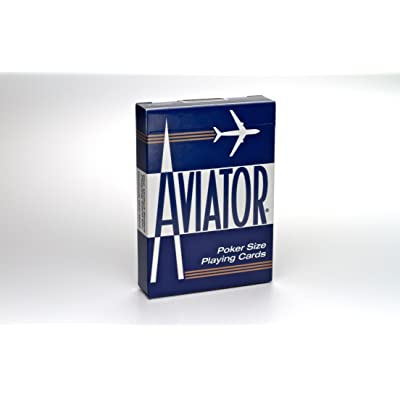 Aviator Poker Size Playing Cards, Colors May Vary: Sports & Outdoors