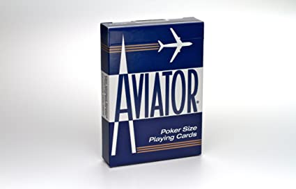 Playing Cards Aviator Poker size Blue