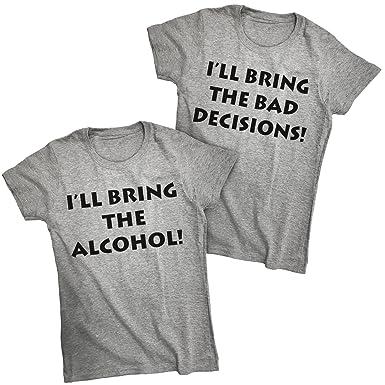 26eaf9b2e Amazon.com: Southern Designs I'll Bring The Alcohol I'll Bring Bad ...