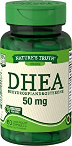 DHEA Supplement | 50mg | 60 Capsules | Non-GMO & Gluten Free | by Nature's Truth