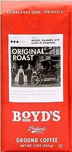 Boyd's Orginal Roast Coffee - Ground Medium Roast - 12-Oz Bag