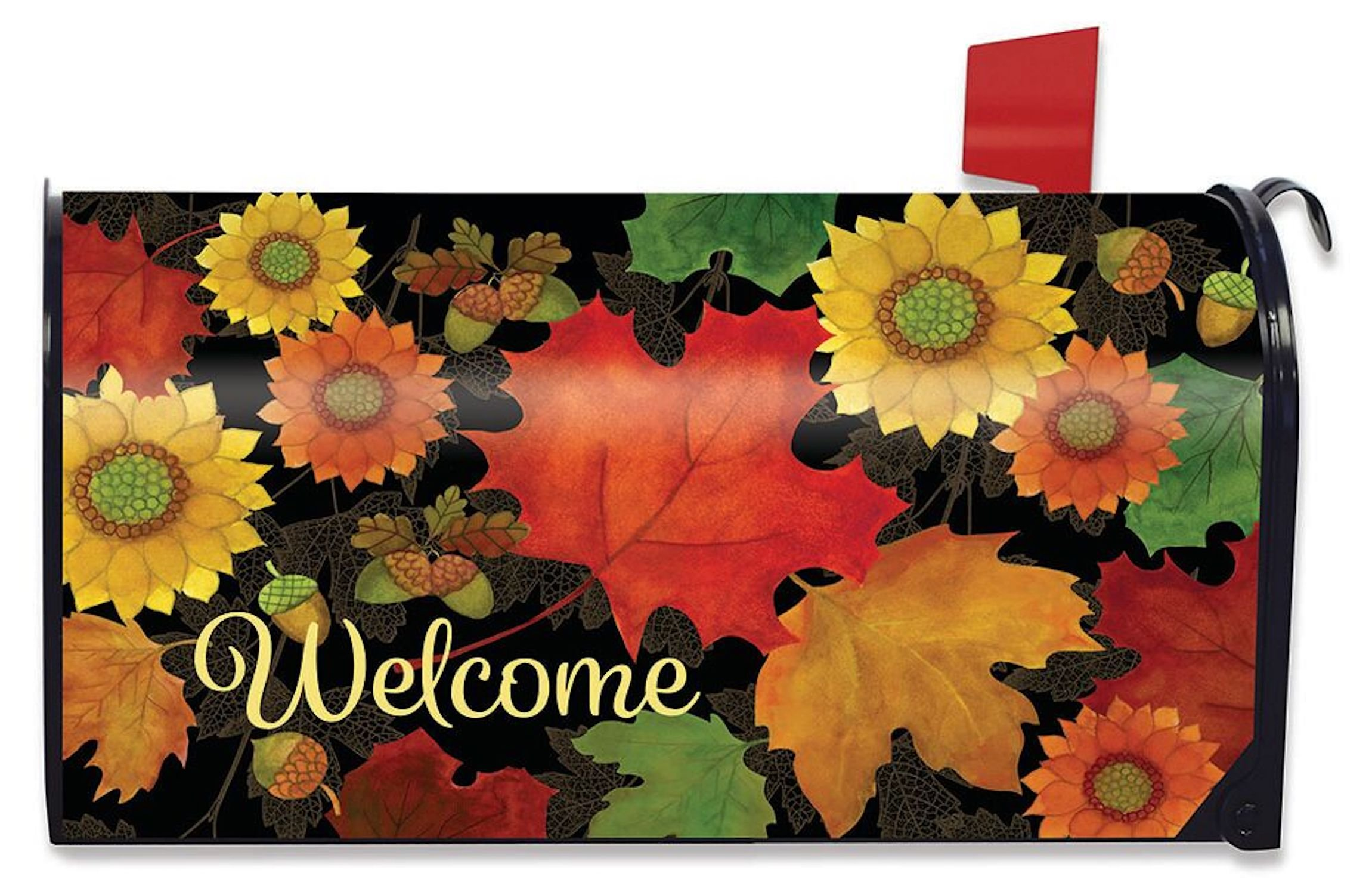 Briarwood Lane Fall Foliage Welcome Large Mailbox Cover Primitive Autumn Leaves Oversized by Briarwood Lane