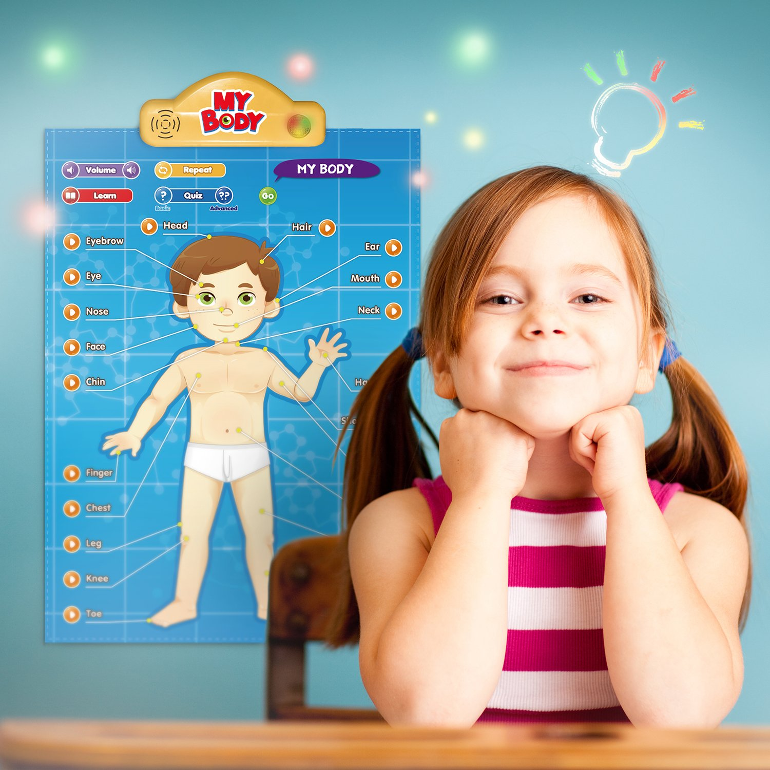 BEST LEARNING i-Poster My Body - Interactive Educational Human Anatomy Talking Game Toy System to Learn Body Parts, Organs, Muscles and Bones for Kids Aged 5 to 12 by BEST LEARNING (Image #2)