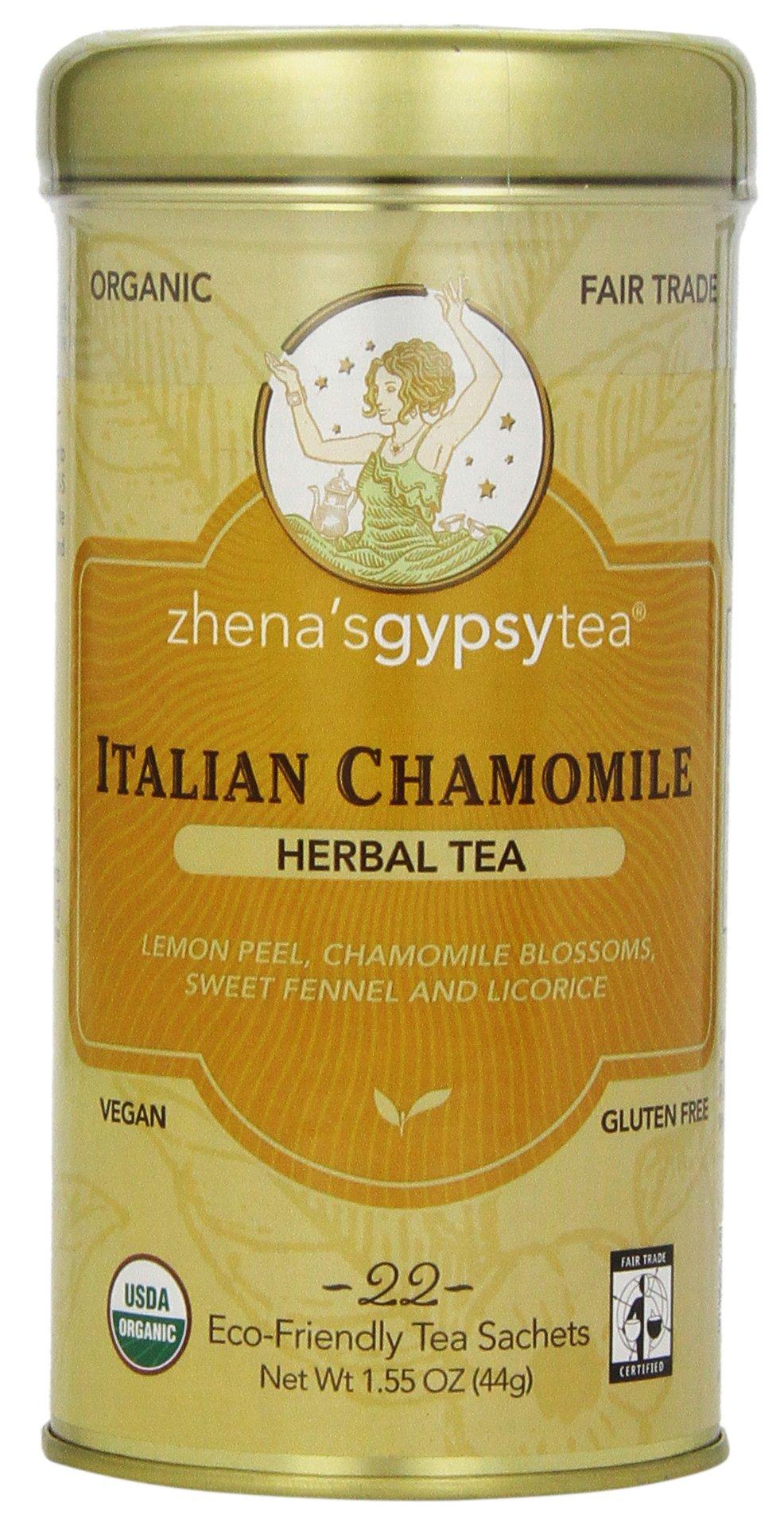 Zhena's Gypsy Tea, Italian Chamomile, 1.55 Oz, 22 Count Tea Sachet