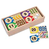 Melissa & Doug 2542 Self-Correcting Wooden Number Puzzles with Storage Box (40 pcs)