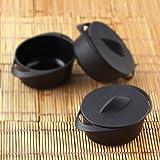 Efavormart 30 Pcs - Black Mini 3oz Dessert/Appetizer Pot