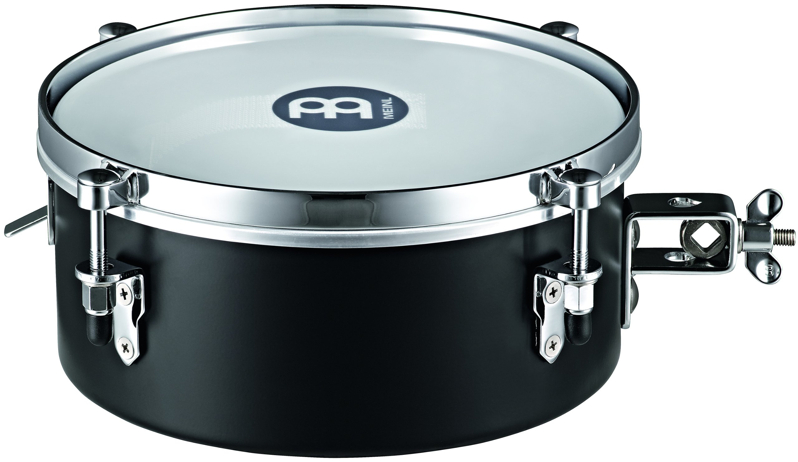 Meinl Percussion MDST10BK 10-Inch Steel Mountable Drummer Snare Timbale, Black by Meinl Percussion
