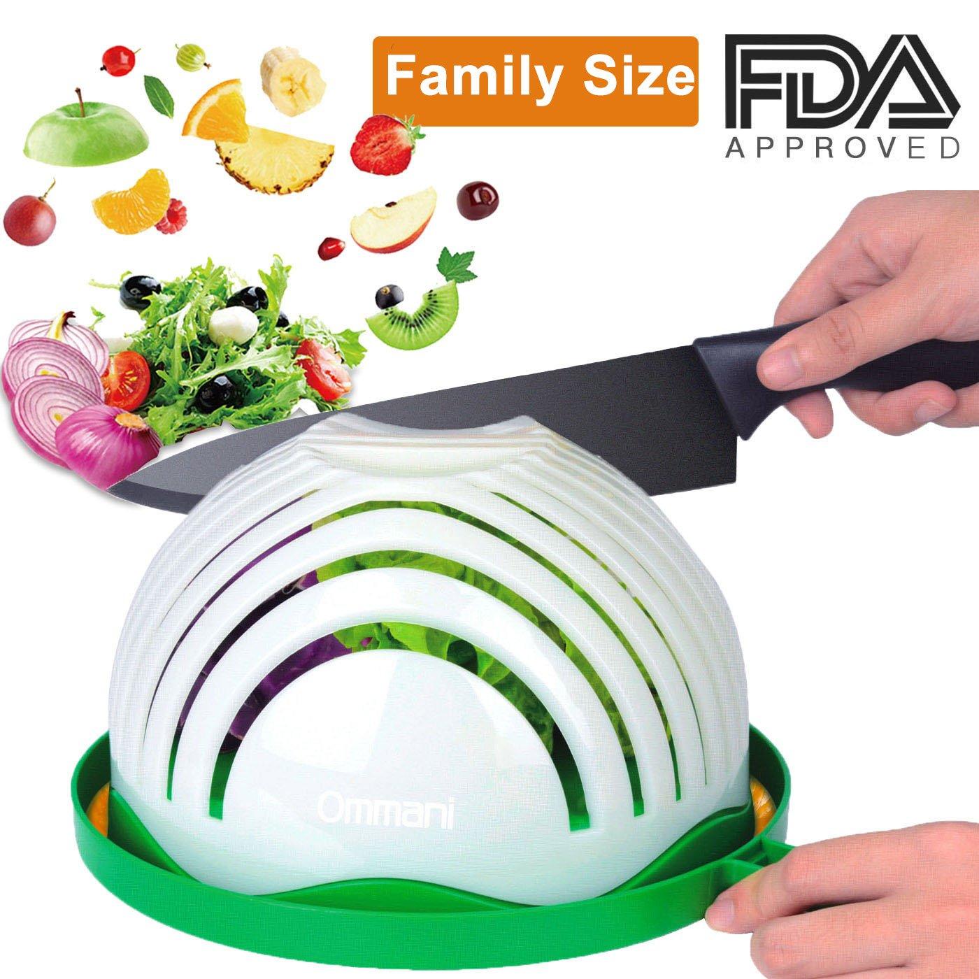 Amazon.com: Ommani Salad Cutter Bowl, 60 Second Salad Maker Family ...
