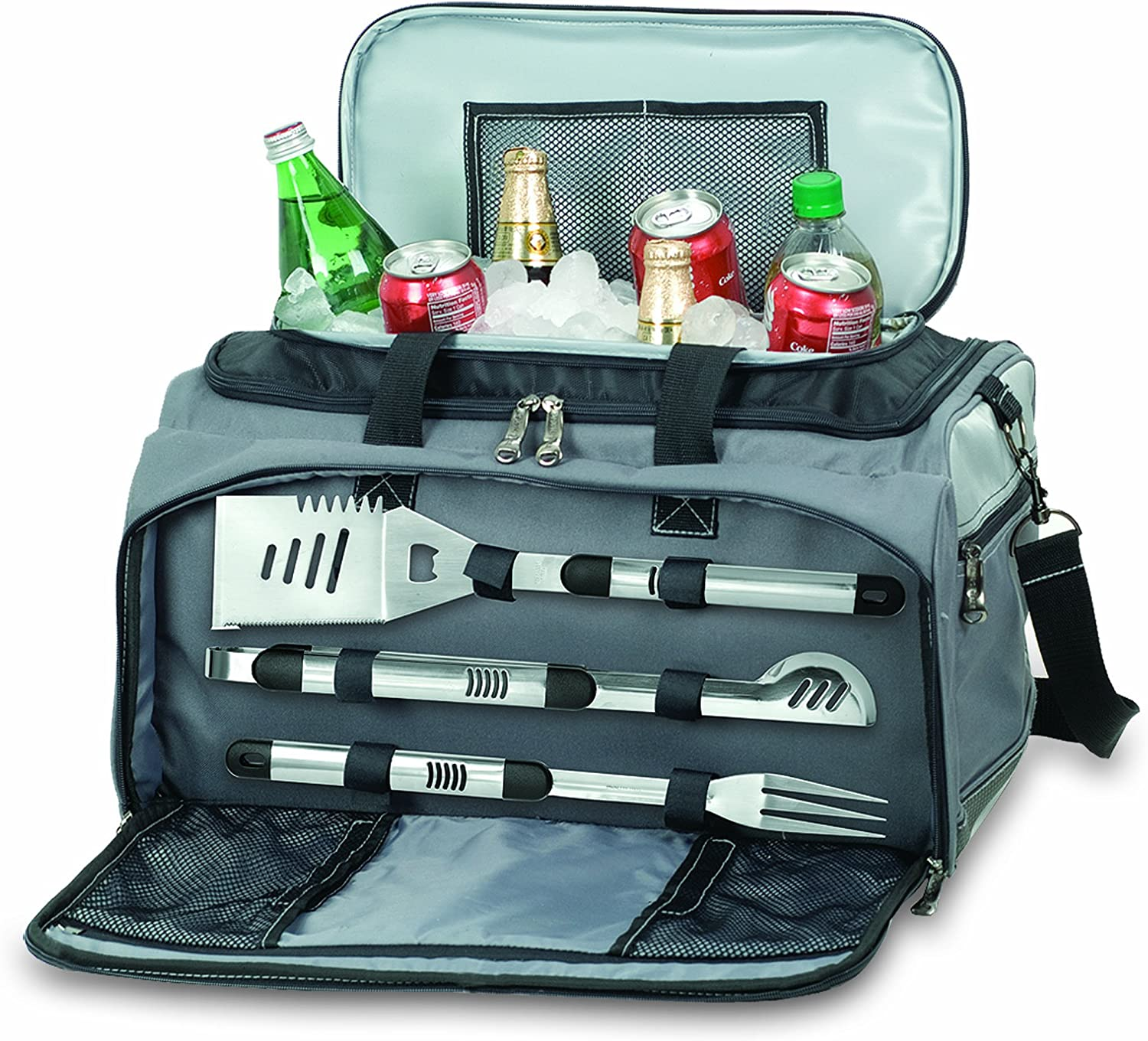ONIVA – a Picnic Time Brand Buccaneer All-In-One Tailgating BBQ Grill Cooler Set