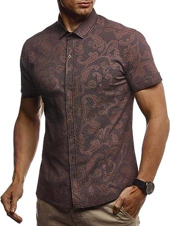 Leif Nelson Camisa de Manga Corta de los Hombres LN-3800