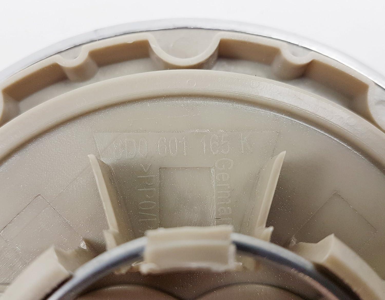 9 radios, 8D0601165K de 1998 a 2005 Juego de 4/tapones de aleaci/ón para rueda con logotipo RS4