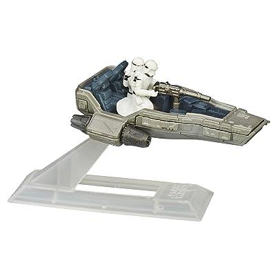Star Wars: The Force Awakens Black Series Titanium First Order Snowspeeder: Toys & Games