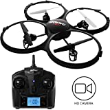 UDI Discovery HD+ Drone with Camera, Bonus Battery & Power Bank - Easy-Fly Drones for Kids Camera Drone Features 6-Axis Stability & 720p HD Drone Camera - UDI Drones with Camera Model U818A