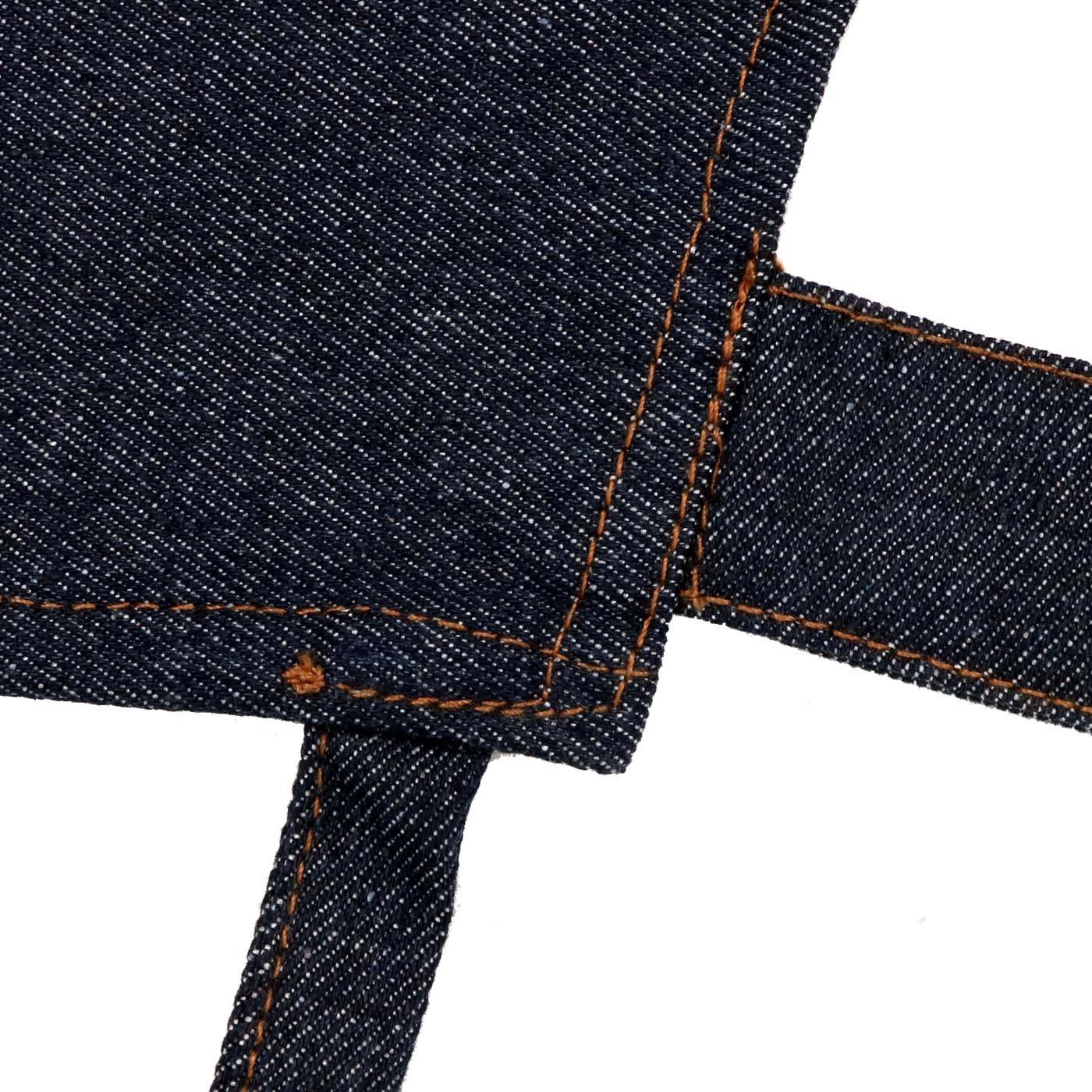 Aivtalk Cotton Denim Work Apron with Pockets Double Shoulder Straps Adjustable up to XXL for Men Women Craftsmen Blue