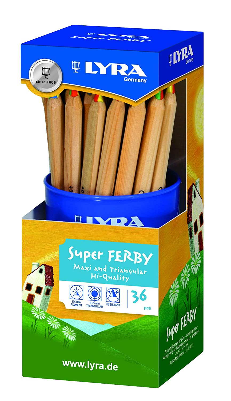 LYRA Super Ferby 4-Color Runddose mit 36 4-Colorstiften Sortiert