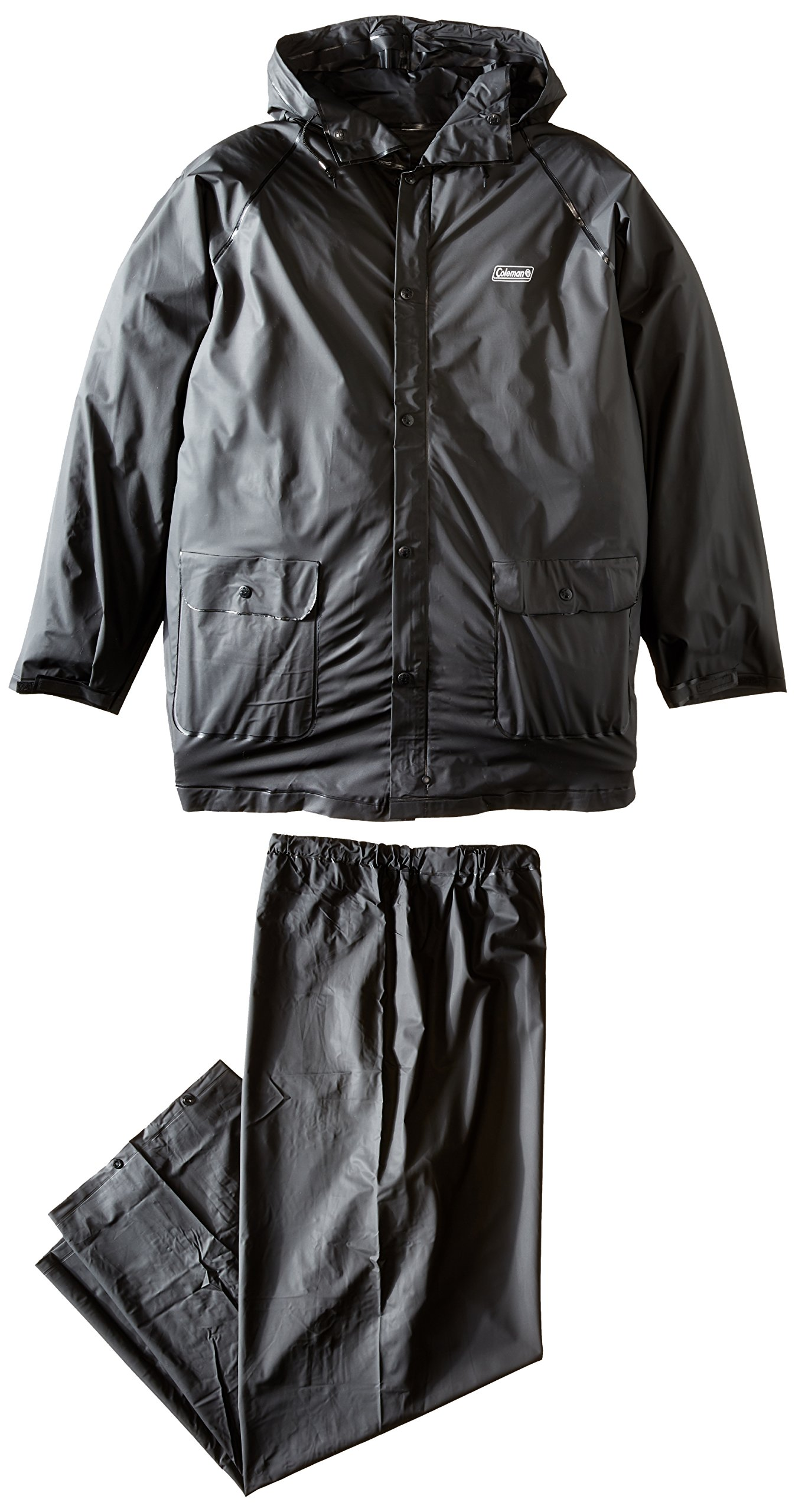 Coleman .20 mm PVC Rain Suit,Black,Medium