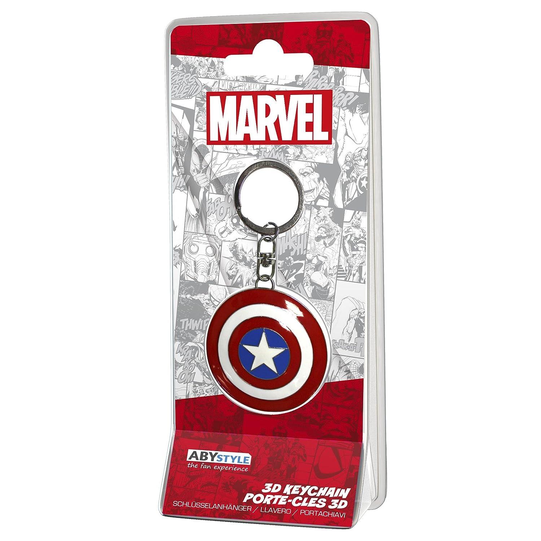ABYstyle – Marvel Llavero 3D – Escudo Captain America, abykey201