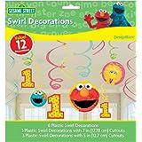 Sesame Street 1st Birthday - Swirl Decorations (12)