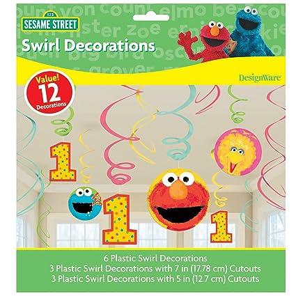 Marvelous Sesame Street 1St Birthday Swirl Decorations 12 Interior Design Ideas Tzicisoteloinfo