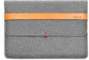 TOPHOME Felt Laptop Sleeve Bag Case 13 inch Compatable for 2020 New 13 inch MacBook pro/MacBook/MacBook Pro 13''(2018/2019)/Dell XPS 13''/ HP EliteBook x360 1030 / Microsoft Surface Pro, Gray