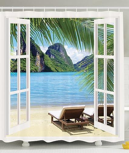 Amazon.com: Palm Tree Decor Ocean Beach Seascape Going Away Gifts ...