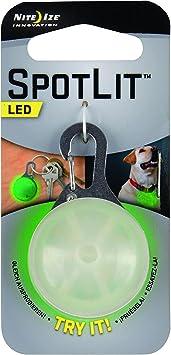 Nite Ize SLG-06-28 SpotLit Clip-On LED Light with Carabiner, Weather Resistant, Eco Pkg, Green