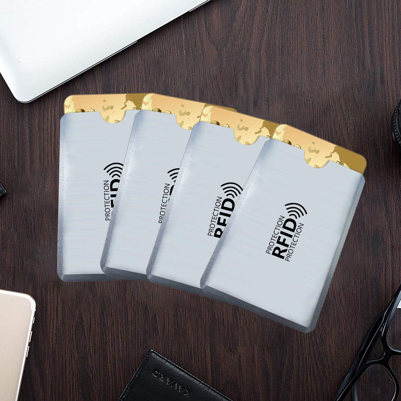 protezione della privacy//regalo e uso professionale Argente 10 Set di protezioni per schede RFID senza contatto e lucchetto NFC lettori scanner e portafoglio