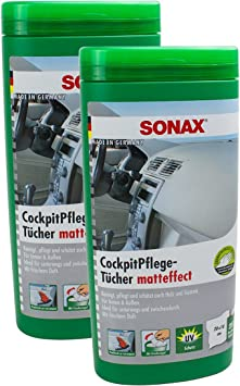 2x Sonax CockpitpflegetÜcher Matteffect Box Cockpit PflegetÜcher Je 25 StÜck Auto