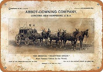 Amazon.com: DYTrade Vintage Look 8 x 12 Metal Sign - 1887 ...