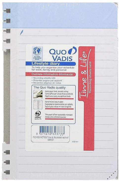 QUO VADIS-Recambio de hojas cuadriculadas de notas para Time ...