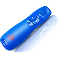 Red Star Tec Wireless Powerpoint and Keynote Presentation Remote Clicker PR-819 (Blue, 1 Pack)