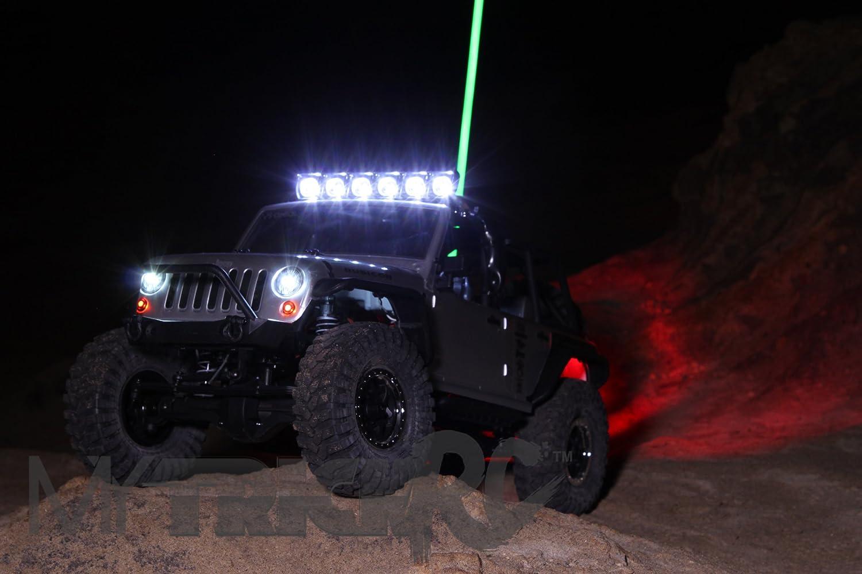 "MYTRICK RC HI POWER CONTROLLER WITH 6/"" LED LIGHT BAR 2 HEADLIGHTS /& 4-LEDS"