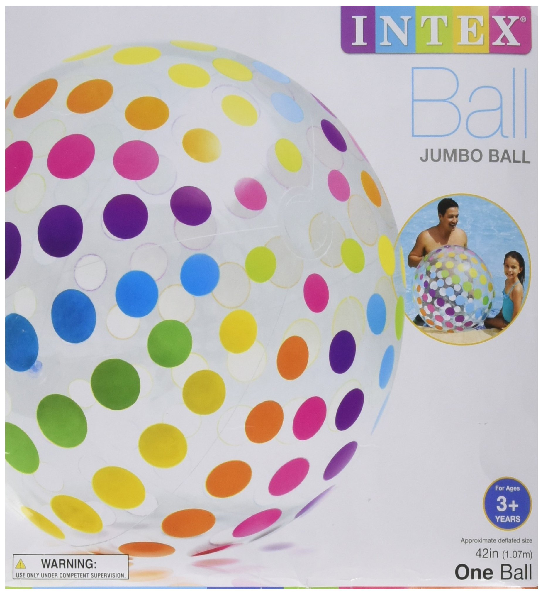 Intex Jumbo Inflatable Big Panel Colorful Giant Beach Ball (Set of 4) | 59065EP