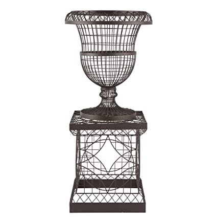 Beau French Country Chateau Wire Frame Outdoor Urn Planter