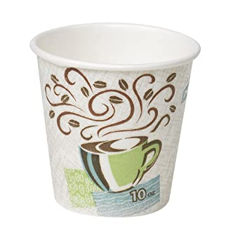 Dixie PerfecTouch 10 oz  Insulated Paper Hot Coffee Cup by GP PRO  (Georgia-Pacific), Coffee Haze, 5310DX, 500 Count (25 Cups Per Sleeve, 20  Sleeves