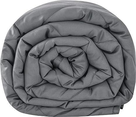 Weighted Blanket f/ür 45-120kg Personen Leefun Gewichtsdecke Schwere Decke f/ür Erwachsene und Kinder Gegen Schlafst/örung und Stress Therapiedecke Grau,135x200cm,6kg