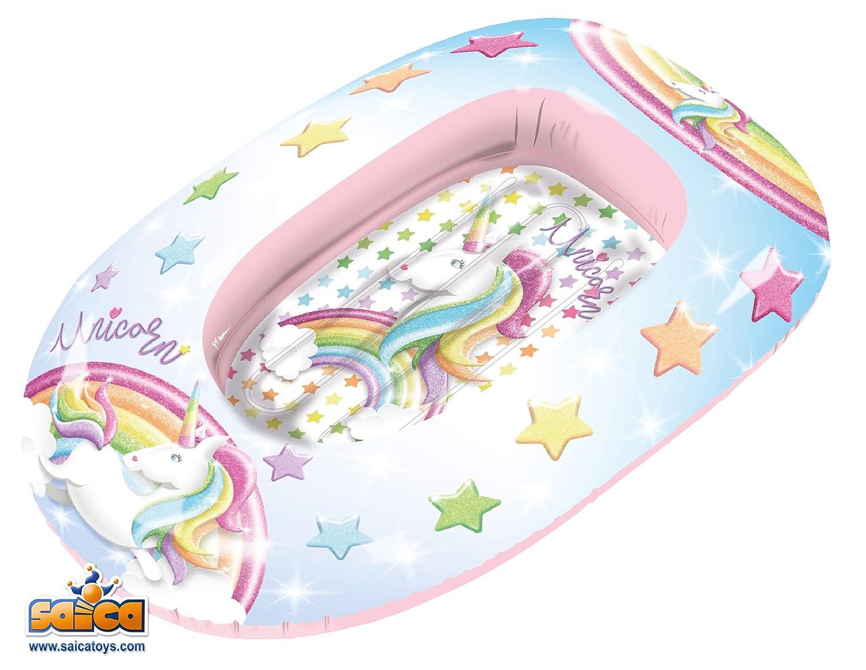Saica Barca Hinchable para niños Unicornio. Playa y Piscina ...