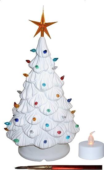 Amazon.com: Mantle Lighted Christmas Tree, Tea Light, Bulbs and ...