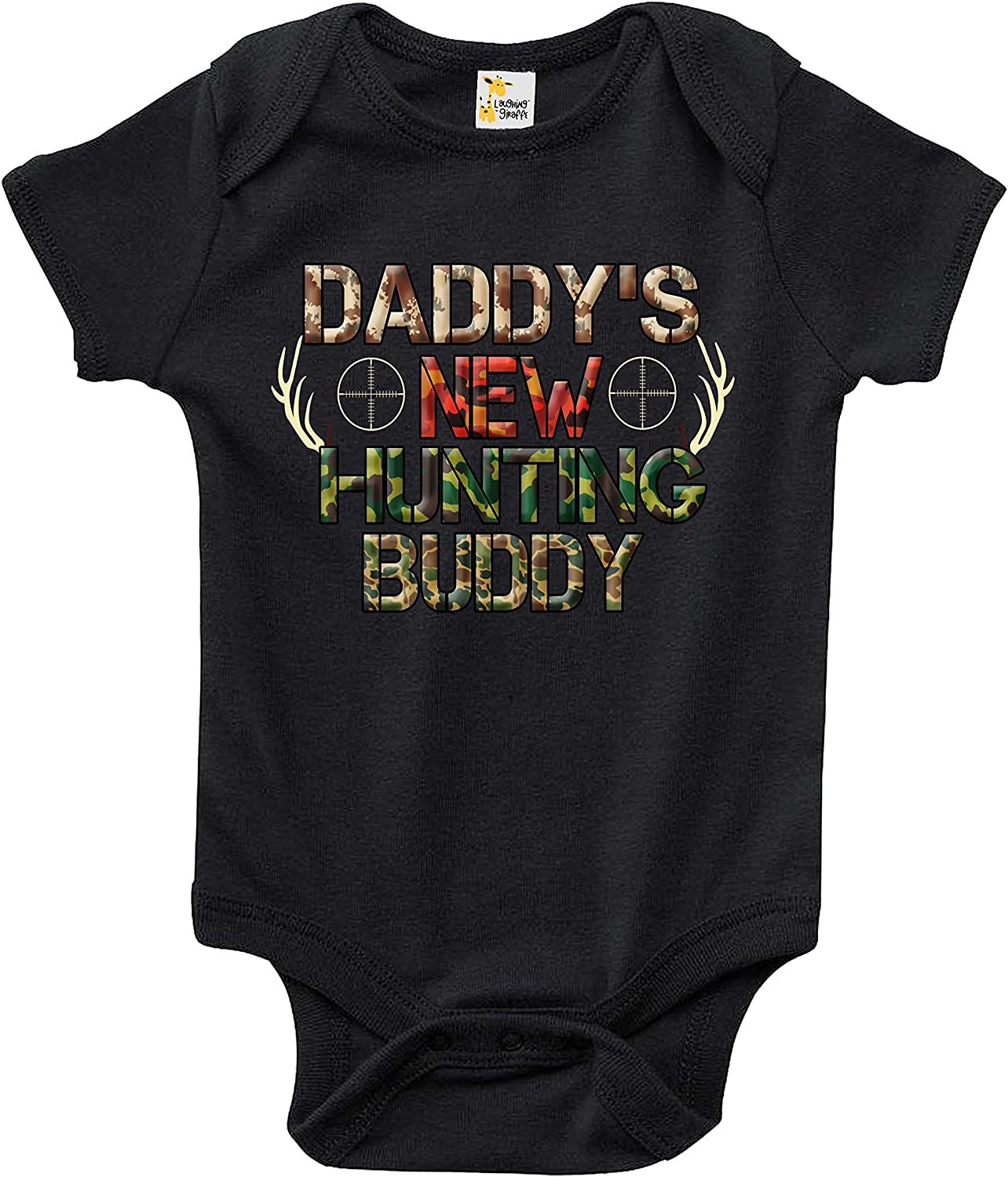 Misc Sizes Avail Baby Newborn Daddy Raising Hunting Buddy with Pink Onesie
