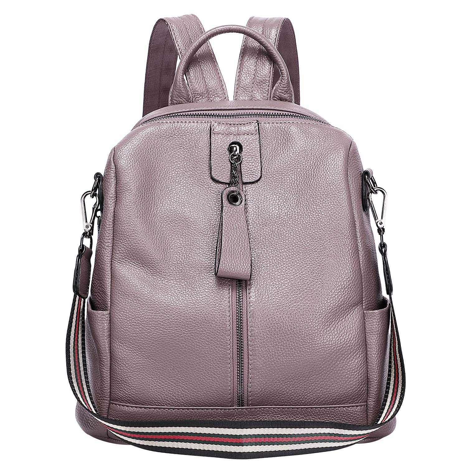 ALTOSY Fashion Genuine Leather Backpack Purse Shoulder Bag for Women (S61 Taro Purple) by ALTOSY
