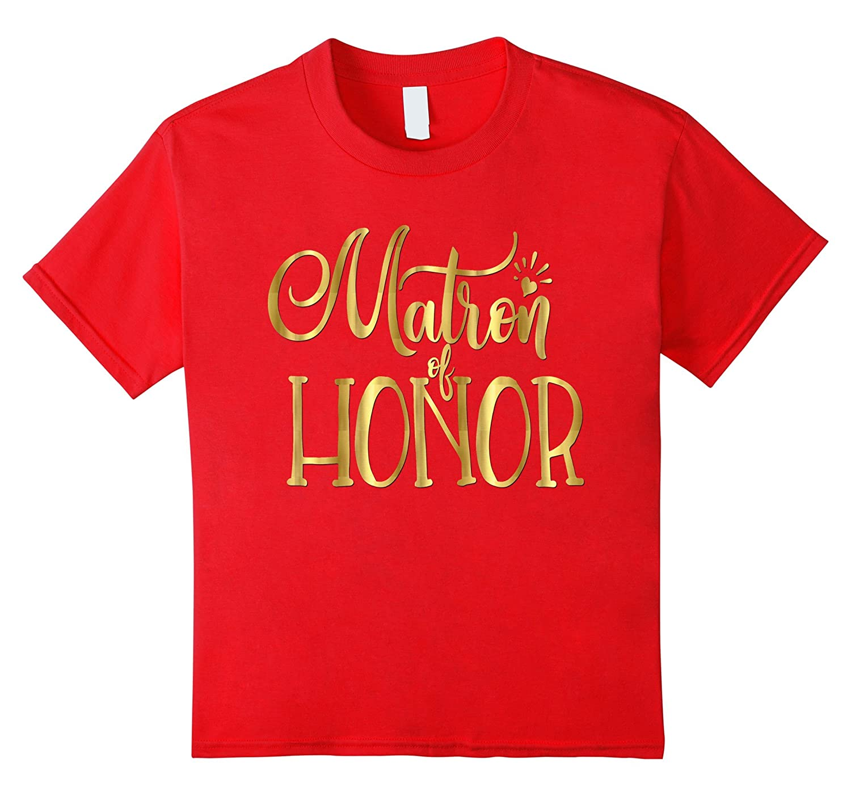 Womens Matron Honor Wedding Gold-Teesml