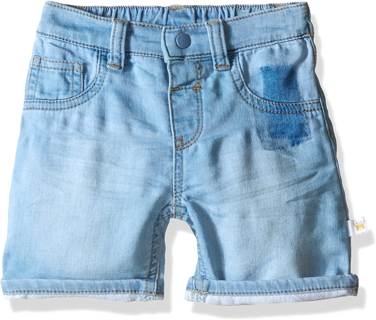Rosie Pope Baby Boys Washed Out Denim Short with Cuff